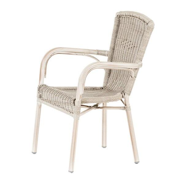 Bílá stohovatelná zahradní židle Massive Home Granada