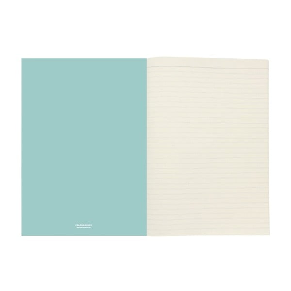 Světle modrý zápisník A4 GO Stationery Aqua