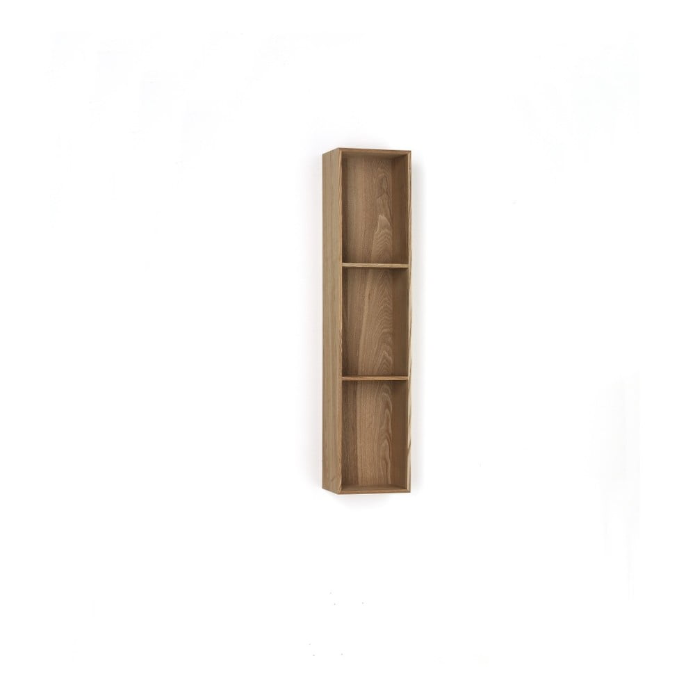 Dřevěná polička s 3 úložnými prostory Tomasucci Billa, 90 x 15 x 20 cm