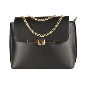 Černá kožená kabelka Matilde Costa Salem