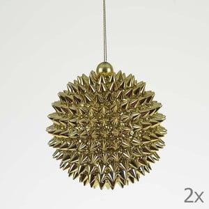 Set dekorativních koulí Ball Gold, 2 ks