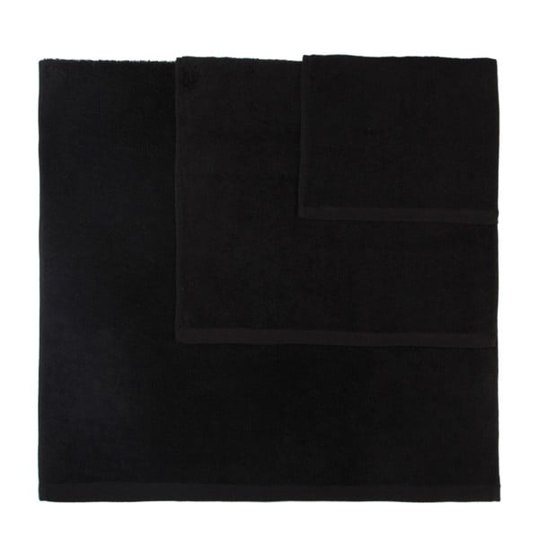 Set 3 prosoape Artex Alfa, negru