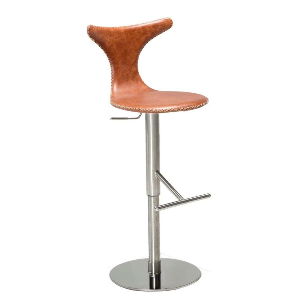 Hnědá barová židle DAN– FORM Dolphin