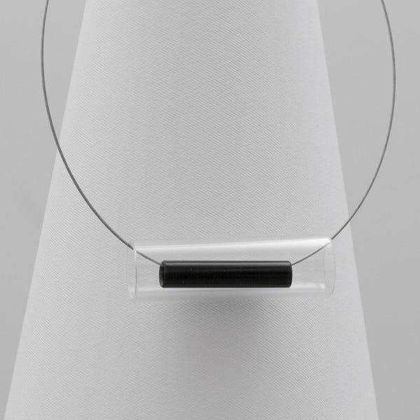 Černý skleněný náhrdelník Ko–ra–le Tubes
