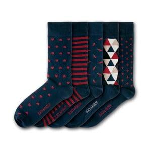 Sada 5 ponožek Black&Parker London Bennetts Water Gardens, velikost 37 – 43