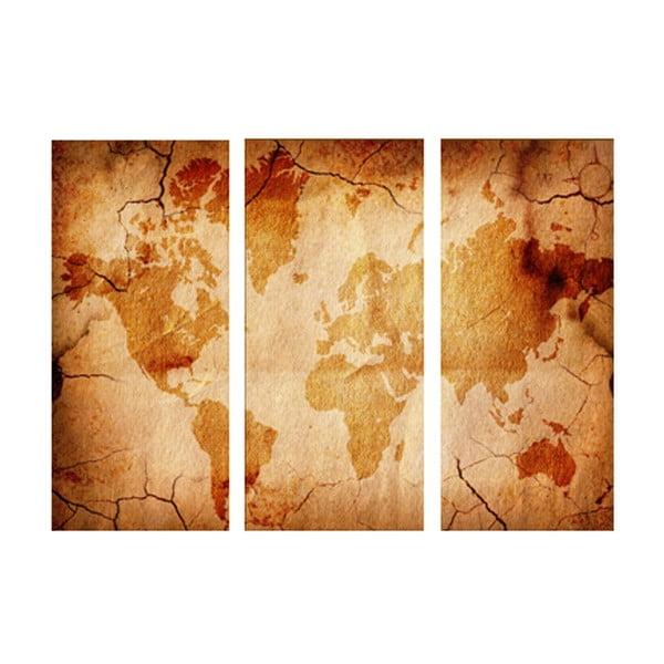 3dílný obraz Kolem světa