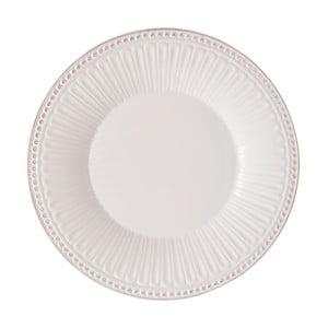 Bílý kameninový talíř Clayre&Eef Cooking, Ø 25 x 3 cm