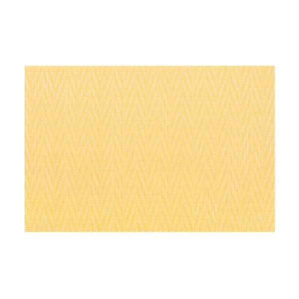 Žluté prostírání Tiseco Home Studio Chevron, 45 x 30 cm