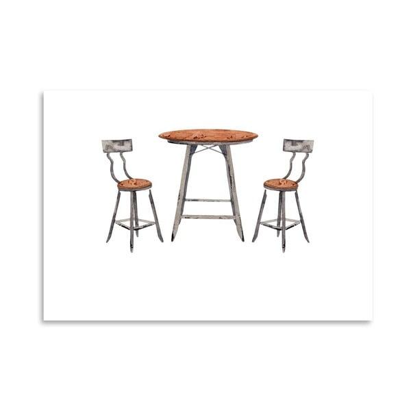 Autorský plakát Café Table, 30x42 cm