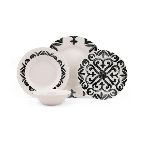 24-częściowy zestaw talerzy porcelanowych Kutahya Bangio