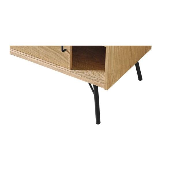 TV stolek s černými nohami Woodman Ashburn