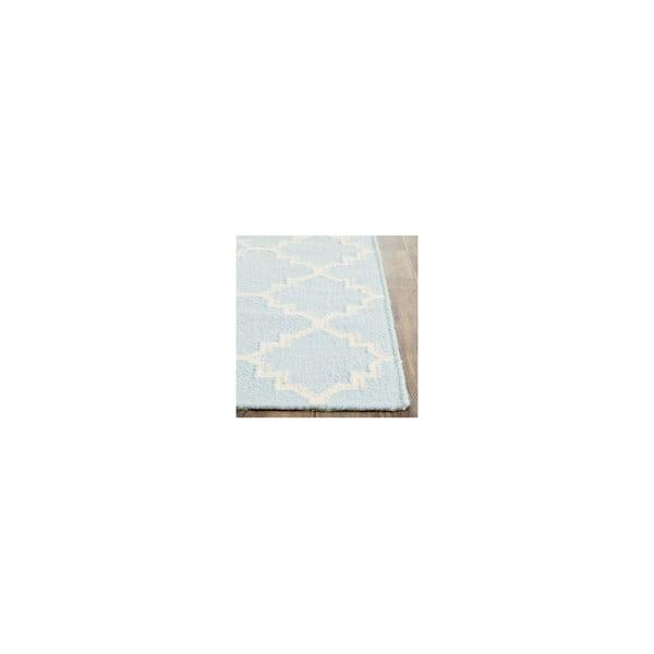 Vlněný koberec Darien 91x152 cm, světle modrý