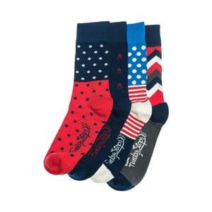 Čtyři páry ponožek Funky Steps En, univerzální velikost