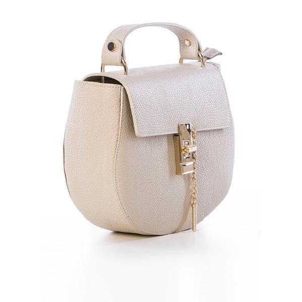 Béžová kožená kabelka Federica Bassi Virgin