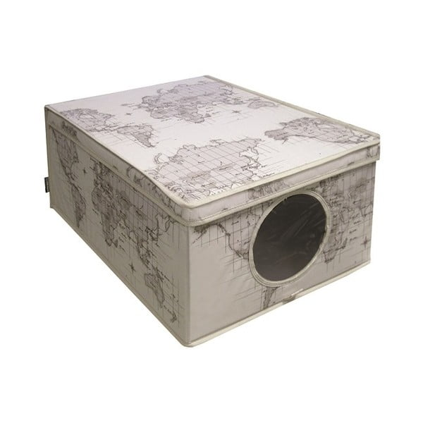 Úložný box Ordinett Maps,48x36cm