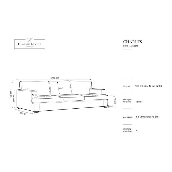 Hořčicově žlutá trojmístná pohovka Windsor & Co Sofas Daphne