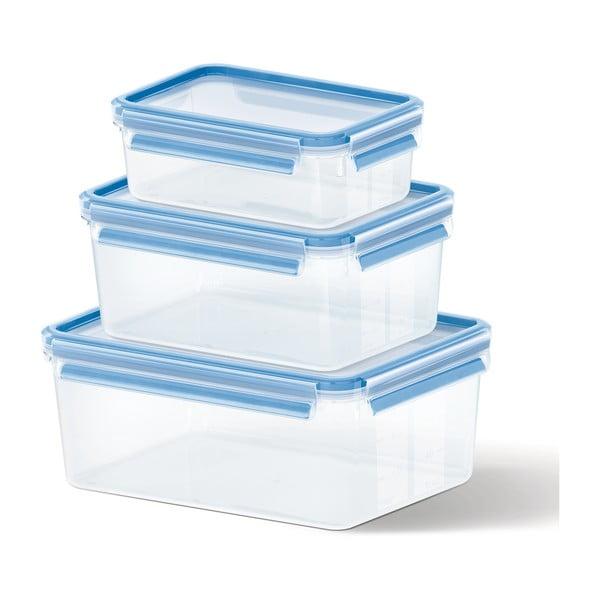 3 boxy na uskladnění jídla Clip&Close, 1+2.3+3.7 l