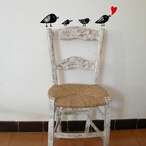 Samolepka Heart birds, 28x31 cm