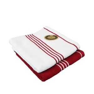 Sada 2 osušek Rio Red/White, 50x100 cm