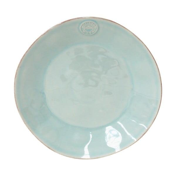Tyrkysový kameninový tanier Costa Nova Nova,⌀27 cm