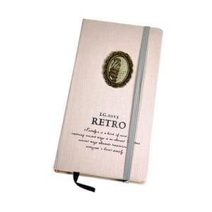 Retro zápisník Italy, světle růžový
