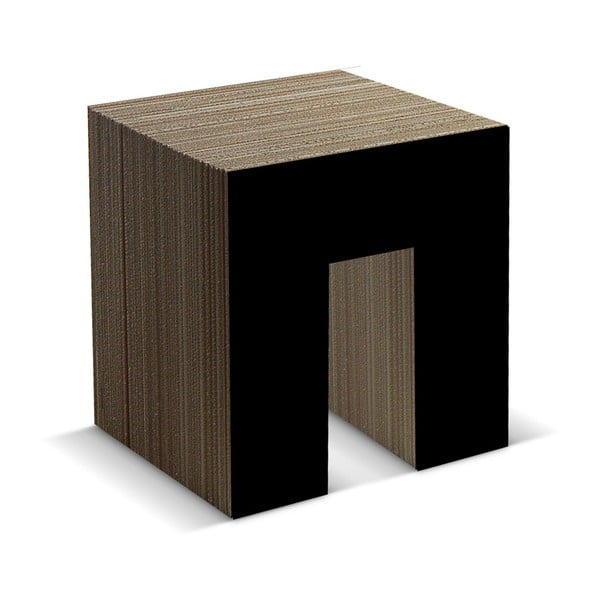 Kartonová stolička Panca Black