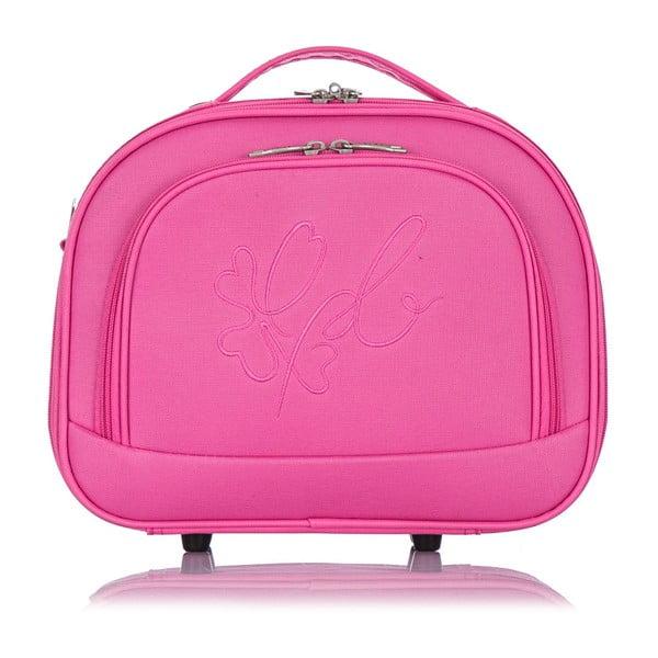 Różowy kuferek podróżny Les P'tites Bombes