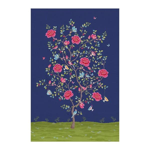 Tapeta Pip Studio Morning Glory, 186x280 cm, tmavě modrá