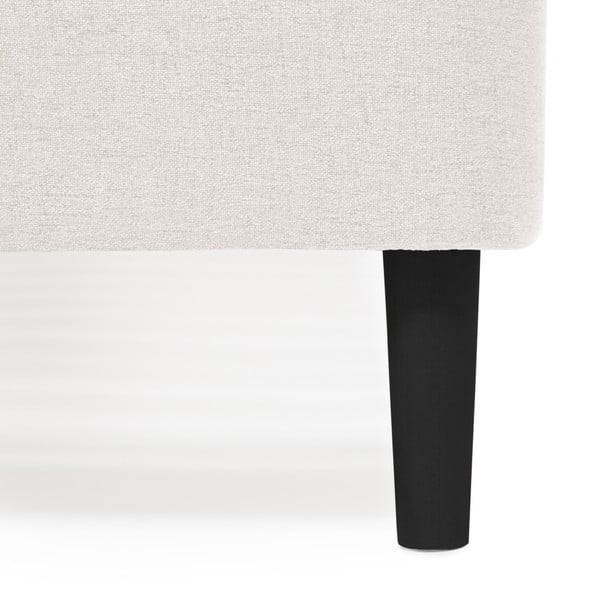 Světle šedá dvoulůžková postel s černými nohami Vivonita Mae Queen Size, 160 x 200 cm