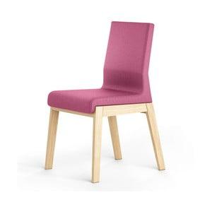 Scaun din lemn de stejar Absynth Kyla, roz