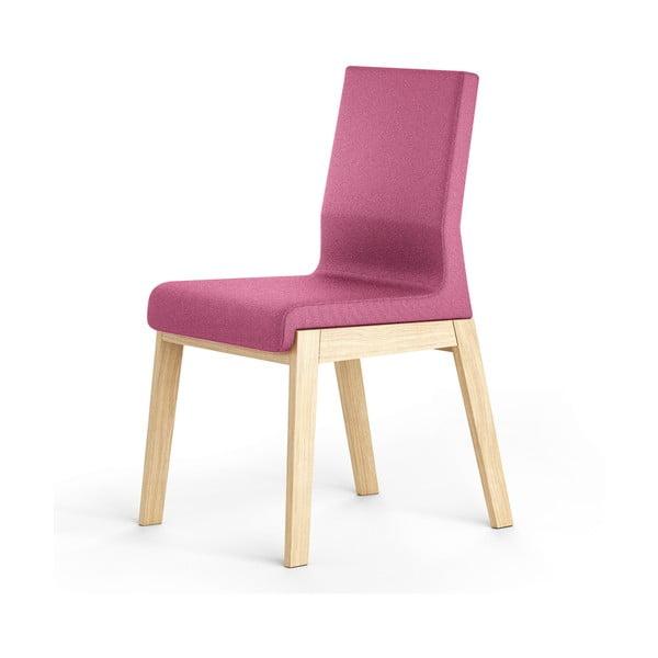 Růžová židle z dubového dřeva Absynth Kyla