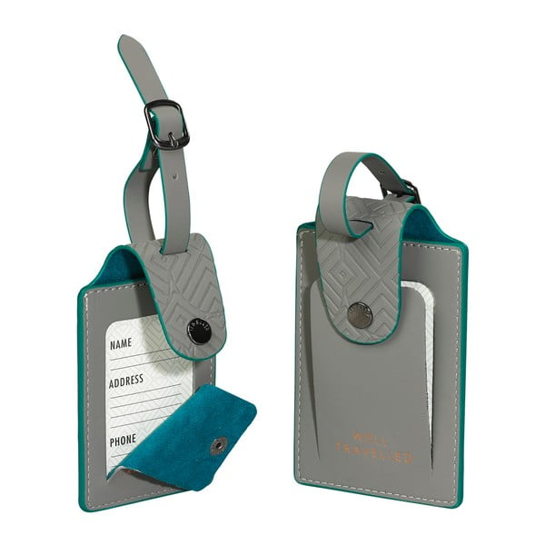 Ash 2 db-os kék címkekészlet bőröndre - Ted Baker
