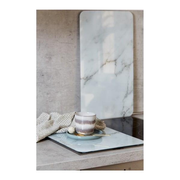 Set 2 suporturi din sticlă pentru protecția aragazului Wenko Marble, 52 x 30 cm