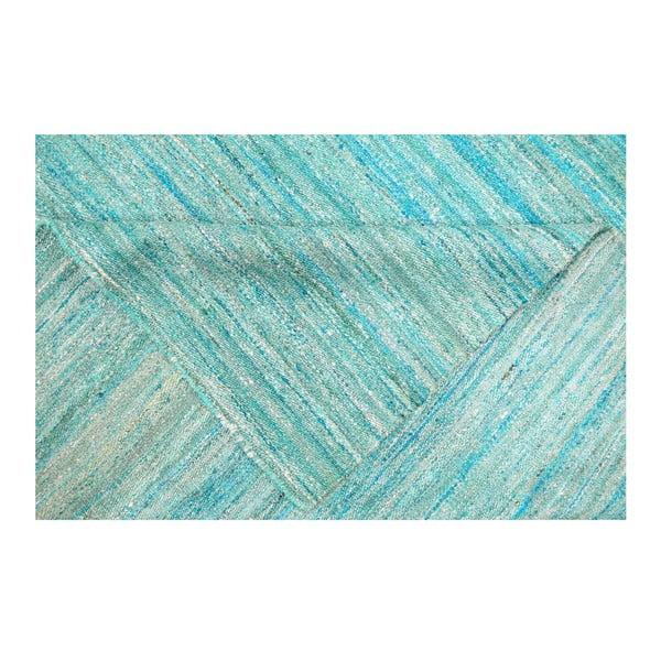 Ručně tkaný koberec Sari Silk Aqua, 150x240 cm