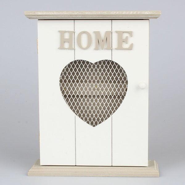 Věšák na klíče Home Love, bílý