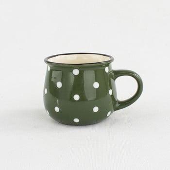 Cană din ceramică Dakls Punto, 230 ml, verde