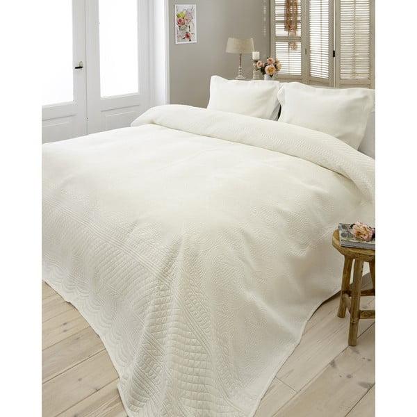 Přehoz přes postel Charlene 260x250 cm, krémový