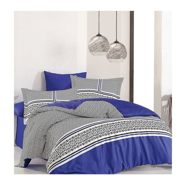 Lenjerie din bumbac satinat pentru pat de o persoană Perre Suro, 160 x 220 cm