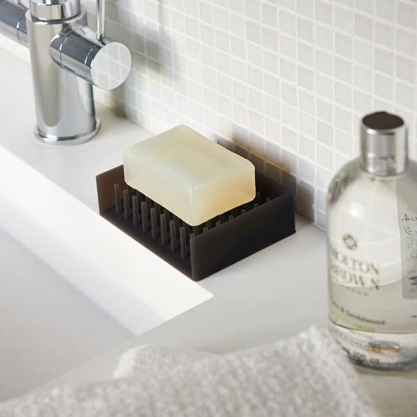 Černá podložka pod mýdlo YAMAZAKI Float
