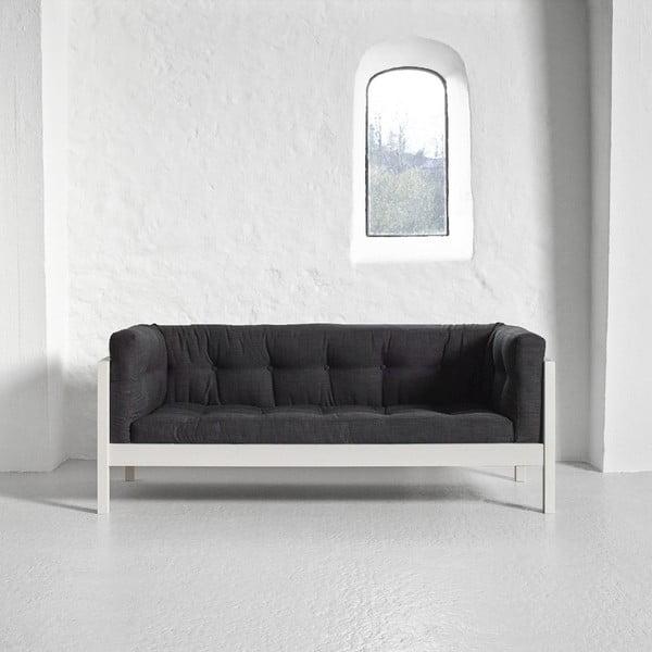 Pohovka pro dva Karup Fusion White/Linoso Dark Gray