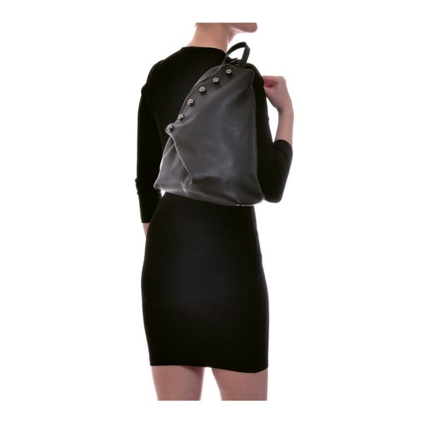 Černý kožený batoh Luisa Vannini Desiree