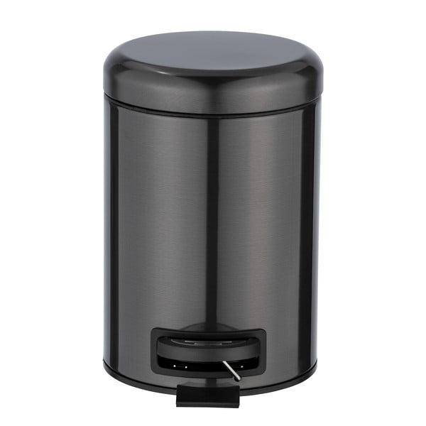Černý odpadkový koš z nerezové oceli Wenko, 3 l
