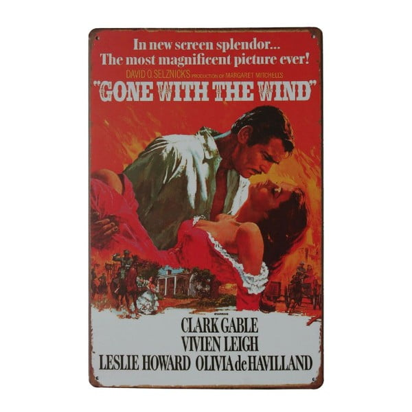 Cedule Gone With The Wind, 20x30 cm