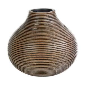 Hnědá polyresinová váza Stardeco, 27 cm