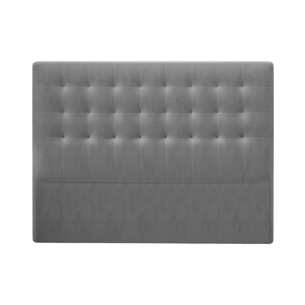 Produktové foto Šedé čelo postele se sametovým potahem Windsor & Co Sofas Athena, 180x120cm