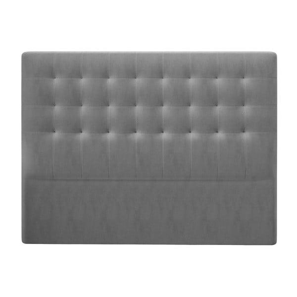 Szary zagłówek z aksamitnym obiciem Windsor & Co Sofas Athena, 200x120 cm