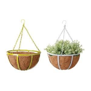 Sada 2 závěsných květináčů z kokosových vláken Magic, ø 30cm
