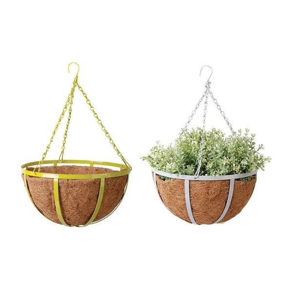 Sada 2 závěsných květináčů z kokosových vláken Magic, 30 cm