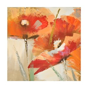 Ručně malovaný obraz Mauro Ferretti Flowers, 60x60cm
