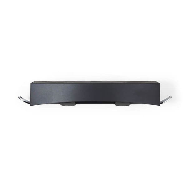 Czarna samoprzylepna półka pod prysznic Compactor Clever Flip Shower Shelf
